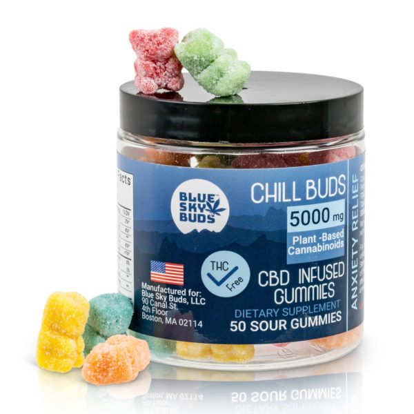 Hemp Extract CBD Infused Gummies BSB CHILL 50 pieces  5000 mg
